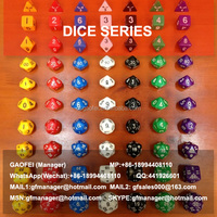 2015 hot sell make plastic dice for promotion using
