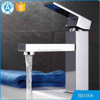 fashion design water saving Chrome plated brass upc bathroom wash basin aquasource faucet