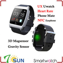 Smart Watch UX Bluetooth Uwatch Heart Rate Monitor Gravity Sensor Phone Mate NFC