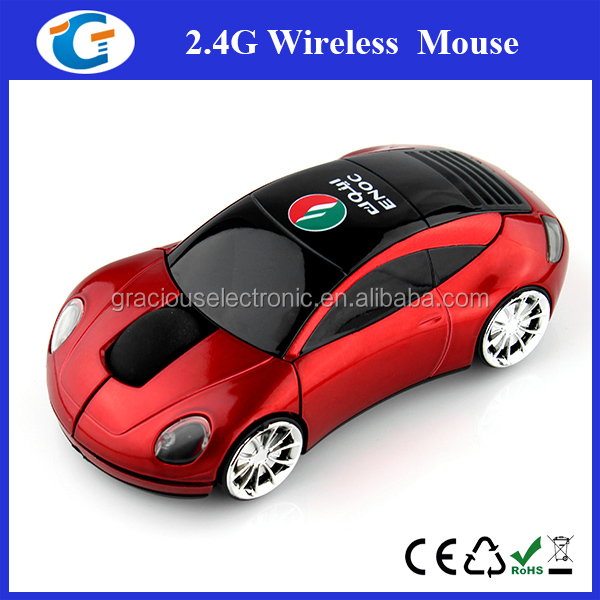 2.4g wireless optical mouse driver with car design