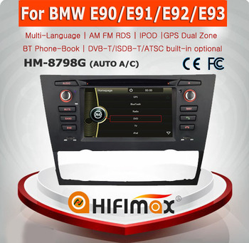 HIFIMAX 1 din car dvd player for BMW E90 (2005-2012) Saloon, touch screen for bmw E90 for bmw 3 series (Auto Air Conditioner)