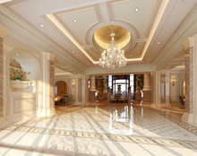 Exquisite French Style 3d Rendering for Villa Foyer BF11-05313d