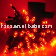 Solar LED String Lights/ LED Red Solar Flashing Lights