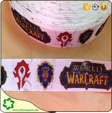 SHECAN world of warcraft fabric Printed ribbon