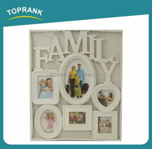 White Color plastic Photo Frame , new design family Photo Frame