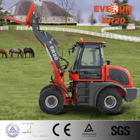 EVERUN Brand 2 Ton Small Front End Type Wheel Loader With Wooden Forks