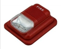DC24V Indoor Red color 3 alarm sounds fire and burglary alarm system Fire alarm strobe siren