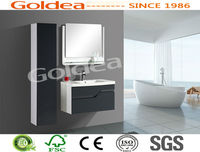 SGS test cabinet suit for retailor; painting bath cabinet, Lacquer vanity , wall-hung cabinet which best selling in Europea