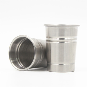Hot sale premium liquor 50ml whiskey threaded stainless steel cup