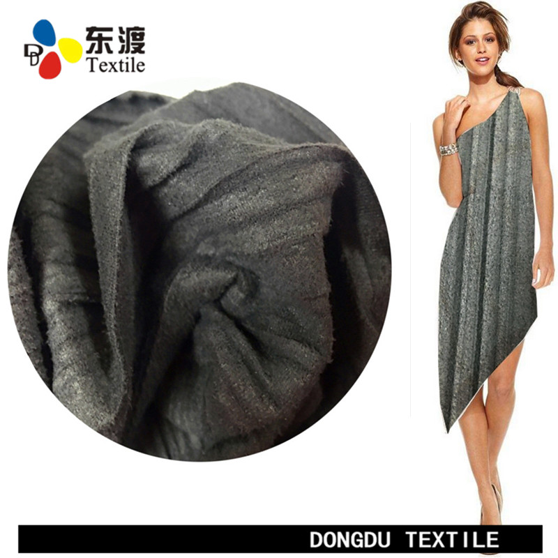 DD-642104 all grey 100% polyester crepe suede fabric