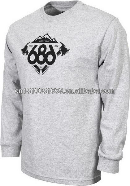 New products on china market offset printing mens long sleeves t shirt