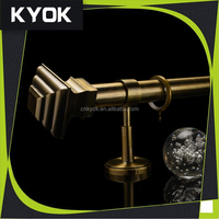 KYOK factory selling wought iron curtain pole, latest technology curtain rod finial&curtain finial, adjustable curtain bracket