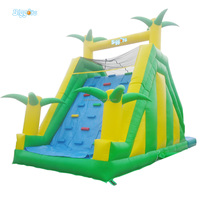Commercial Jungle Inflatable Water Slide With Climbing Walls For Sale Pool