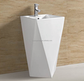 D3961 high quality ceramic one piece standing pedestal basin bathroom sink