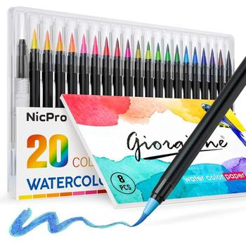20+1 blendable ink Brush marker pen with watercolor paper pad