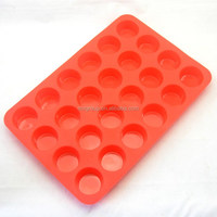 Wholesale new design Silicone Muffin Pan,24 cups hole Silicone Muffin Pan,silicone muffin pan mold standard in China