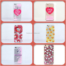 For iPhone 6 6 Plus 7 7 Plus Emoji Love Heart Donut Glitter Hearts Liquid Phone Case