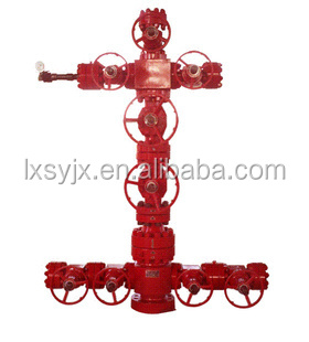 oil field wellhead equipped with gate valve,braden head,angle needle valve,pressure gauge