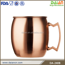 Custom copper mugs moscow mule mug hammered/fda approved mugs
