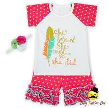 66TQZ258-65 Yihong Infant & Toddlers Golden Dot Icing Short Outfits Baby Boutique Clothing Latest Design In Kids Wear