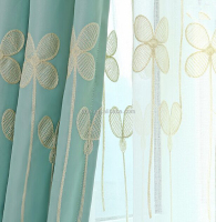 2015 Cheap sheer embroidered curtain made in shaoxing