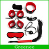 Bondage Kit Set 7 Pcs Product Set Adult Games Toys Set Hand Cuffs Footcuff Whip Rope Blindfold Couples Erotic Toys