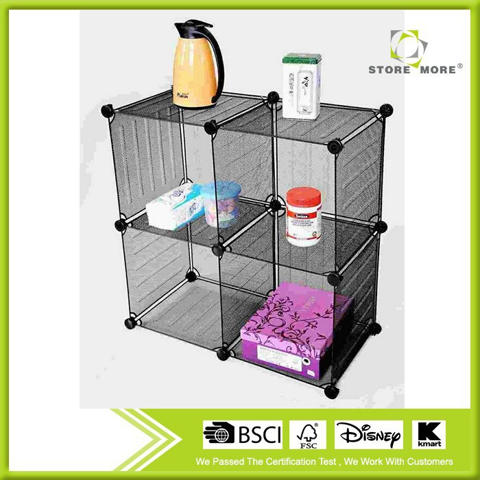 Metal Modular Gridding Four Storage Cubes