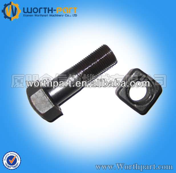 High Tensile Grade 12.9 Track Bolts And Nuts KM3714K For Excavator/Bulldozer