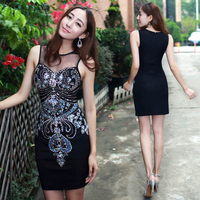 New Heavy Beaded Bodycon Slim Hip Hot Sexy Club Dress Cocktail Party Dress