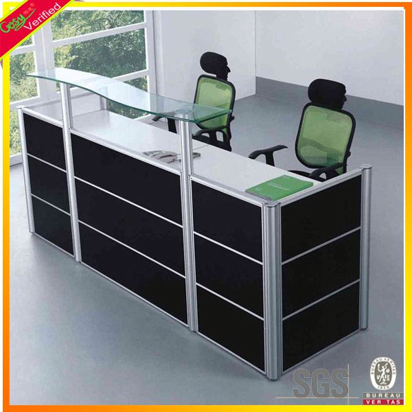 Durable modern corian reception counter cheap reception desk