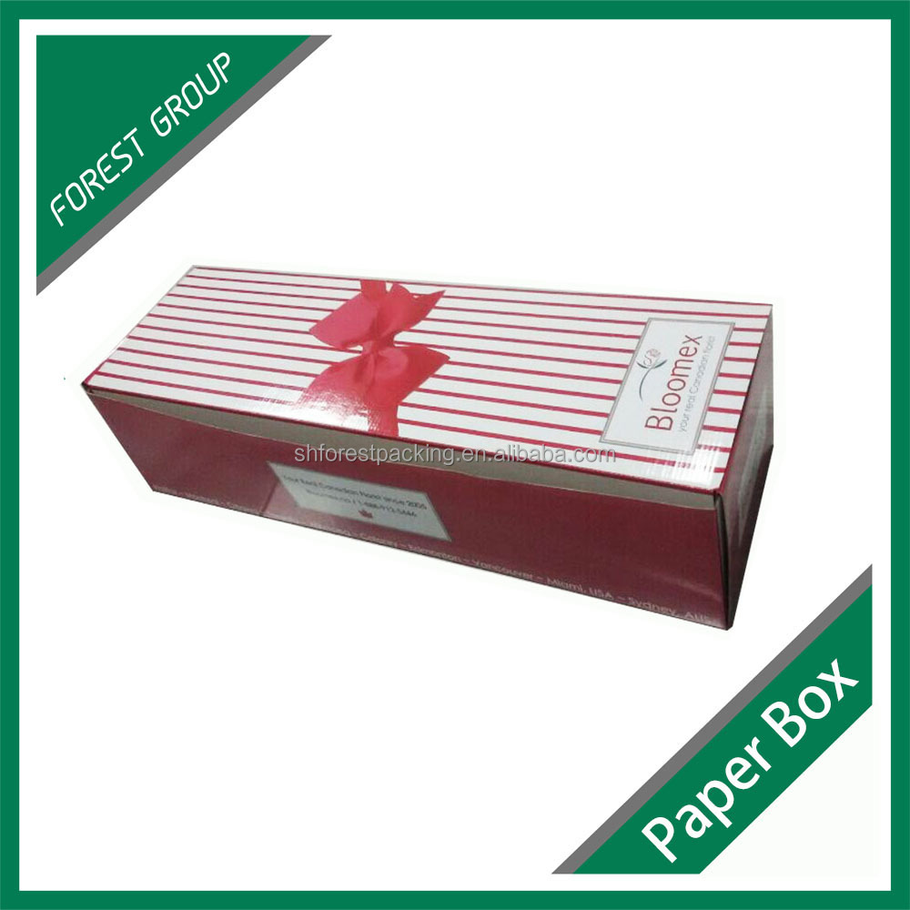 Custom design long corrugated gift box pink packing box on sale