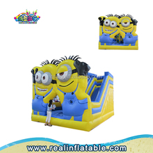 Commercial minion bouncy castle,inflatable kids air jumper,bouncing castles with slide