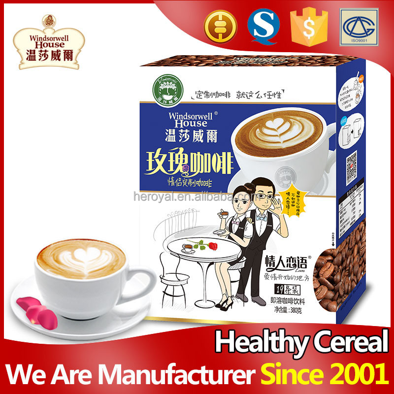 New flavour romantic rose healthy instant coffee