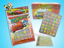 2014 HOT SELL Car Mini Bubble Gum Love Is!Tablet Gum With Cartoon Tattoo/