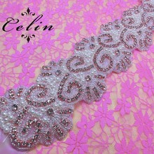 wholesale iron on transfer rhinestone trim stone for dress