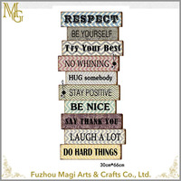 wholesale rustic words vintage wooden wall signs