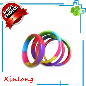 custom cheap segmented promotional silicone bracelet ,customized beautiful silicone bracelet