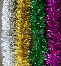 Hot Selling Decorative Artificial Tinsel Garland 2M Christmas Home Decor Made In China