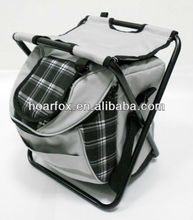 folding cooler stool backpack / cooler chair backpack