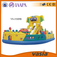 CE certificate kids jumping inflatable bouncy castle with water slide