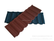 Waterproof Colorful Stone Chips Coated Metal Roof Tiles for House