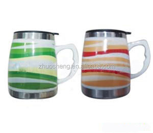 promotional stainless steel 12 V USB travel mug/ceramic coffee mug
