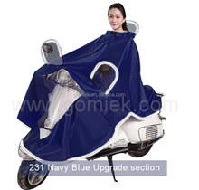 Motorcycle China manufacturer in stock raincoat/poncho with mirror cover for adult