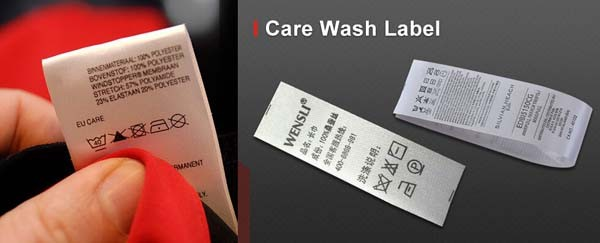 Custom Cotton Size Label Printed Cotton Care Wash Label for Clothing