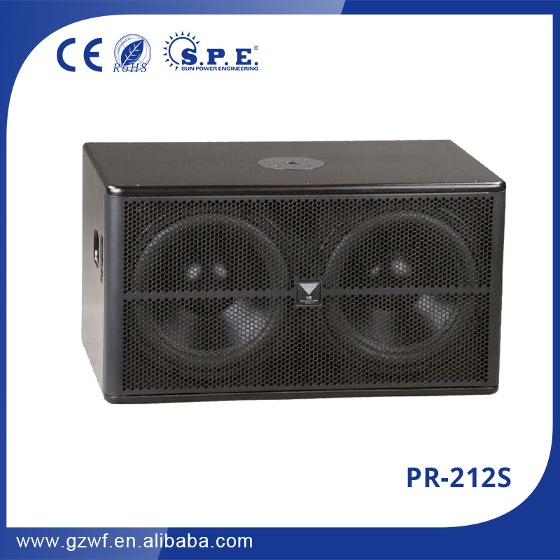 "pr-212s professional speakers dual 12"" subwoofer speaker box china jl audio subwoofers"