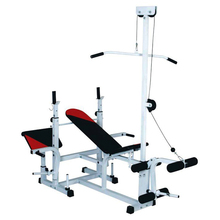 Multifunction Home Gym Fitness Equipment Weight Incline Bench, Foldable Weight Bench With Pulley and Adjustable Weight Plate