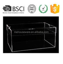 M&E Deluxe Clear Plastic Acrylic Shoe Box Storage Container Display Case Box for Basketball Shoes