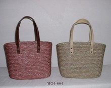 wholesale fashion natural wheat straw women handbags ,lady beach bags
