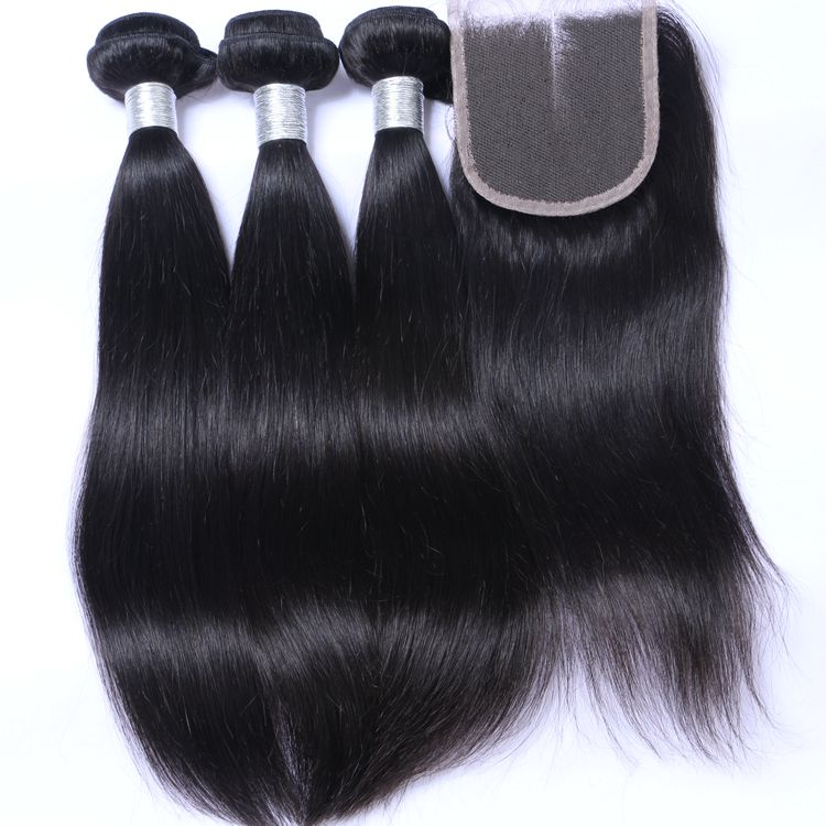 100% Unprocessed remy brazilian cuticle aligned hair extension <strong>human</strong> straight