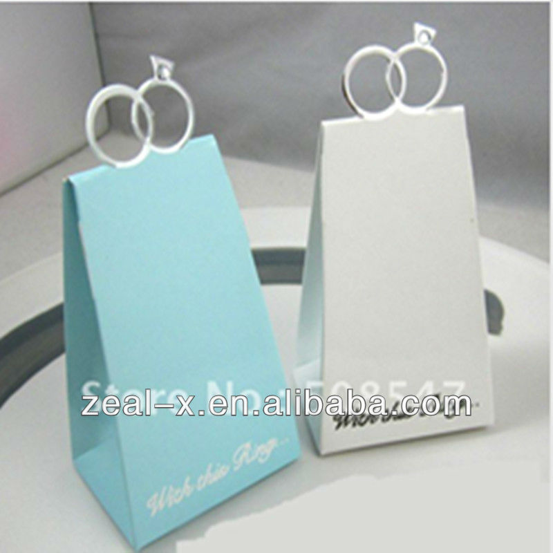 metal handle ecru white food&gift bag